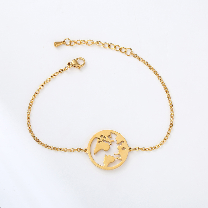 Dainty Earth Charm Bracelet for Minimalist Outfits