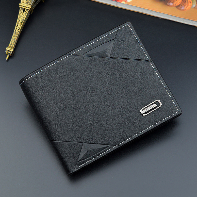 Slim Embossed Synthetic Leather Folding Wallet for Fashionable Looks