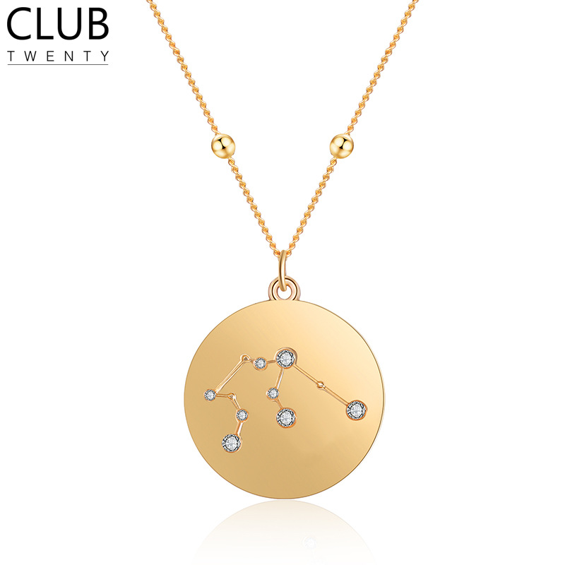 Stylish Crystal Constellation Necklace for Memorable Birthday Gift