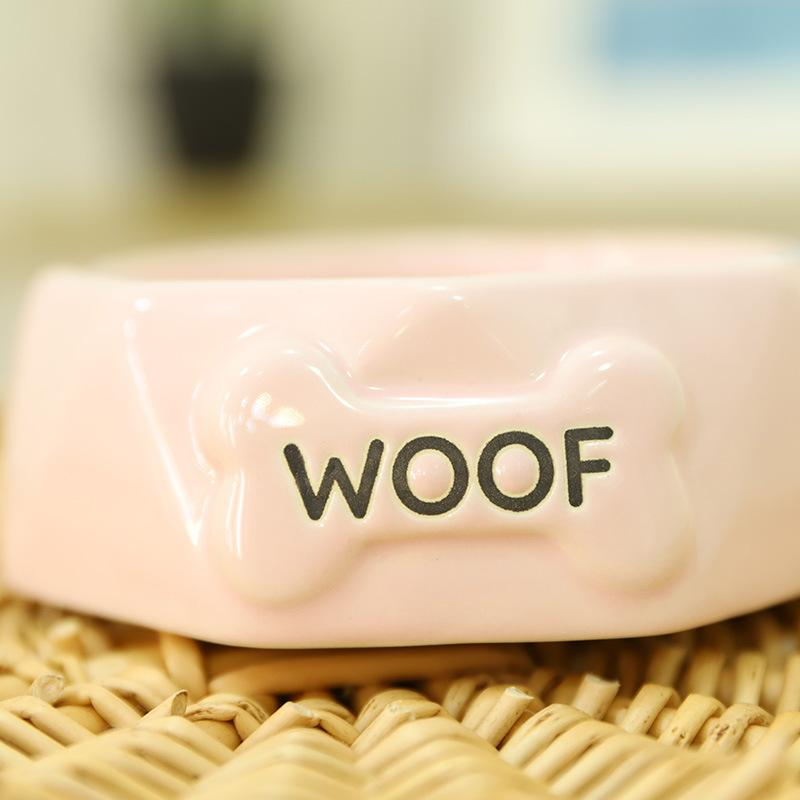 Woof Ceramic Pet Bowl