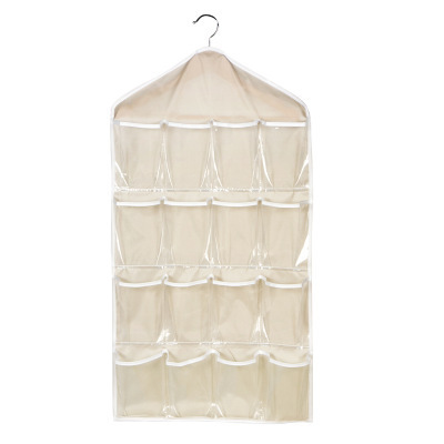 Useful 16-Pocketed Polyester Hanging Organizer for Home