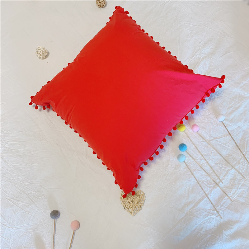 Fun Small Pompom Throw Pillow for Fashionable Living Rooms