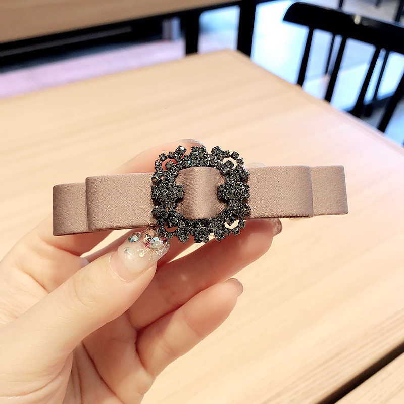 Vintage Cloth Bow Barrette Clip for Classy Hair Accessories