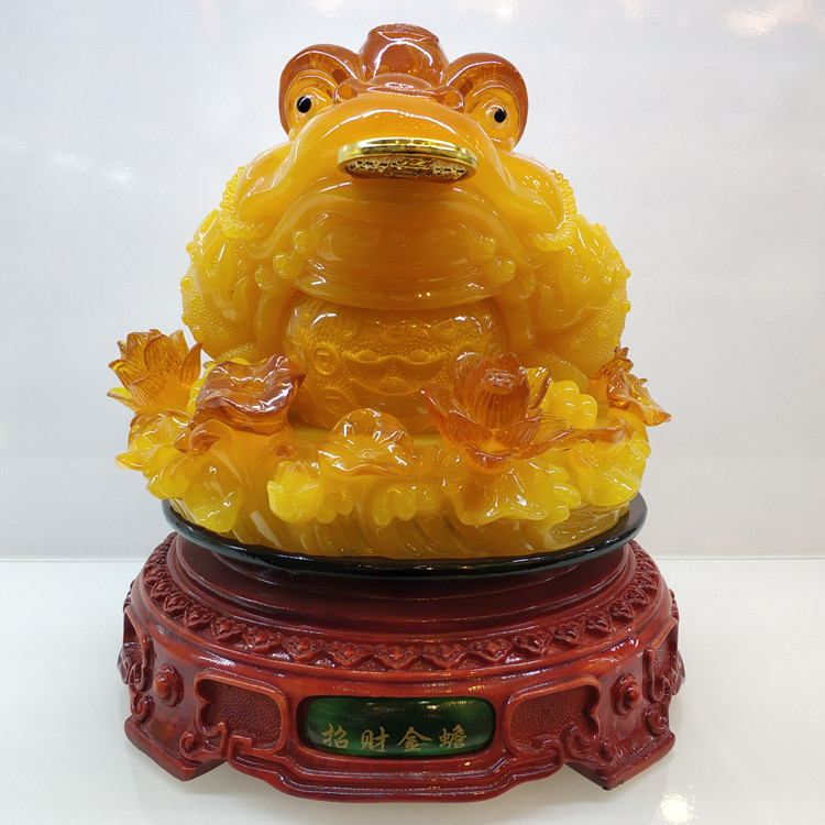 Chinese Good Luck Resin Figure for Home Display