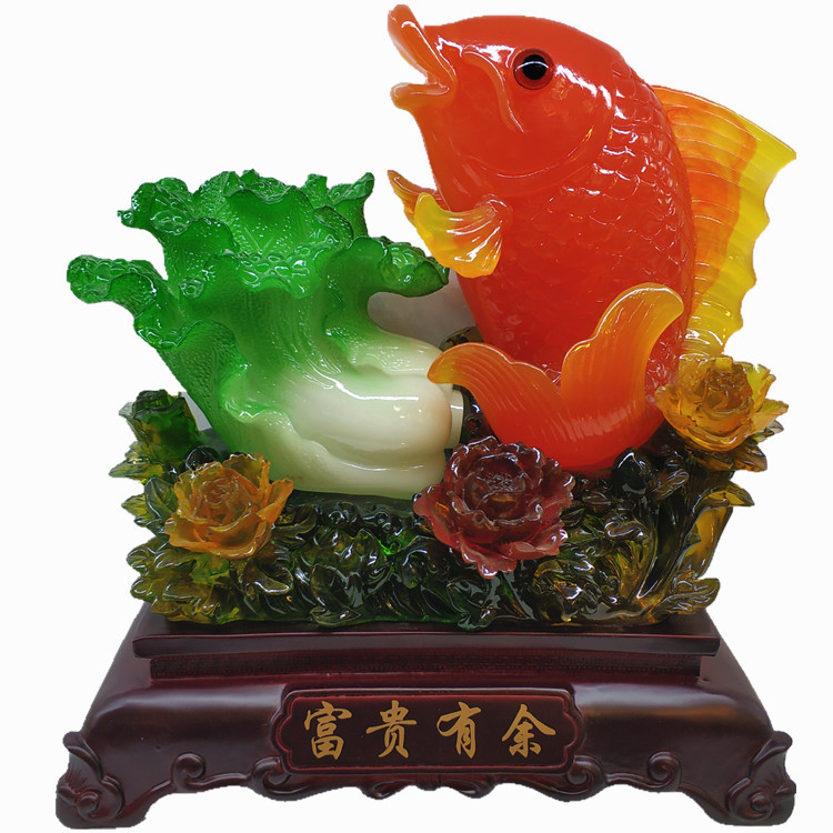 Koi and Cabbage Resin Handicrafts for Display
