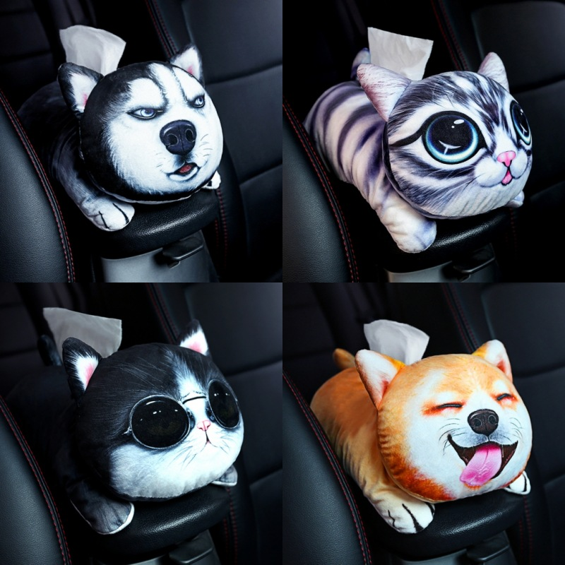 Creative Dog Themed Car Tissue Box for Pet Lovers