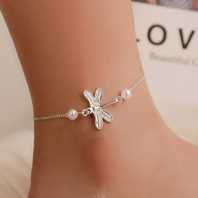 Fashionable Dragonfly Anklet for Ladies' Accessories