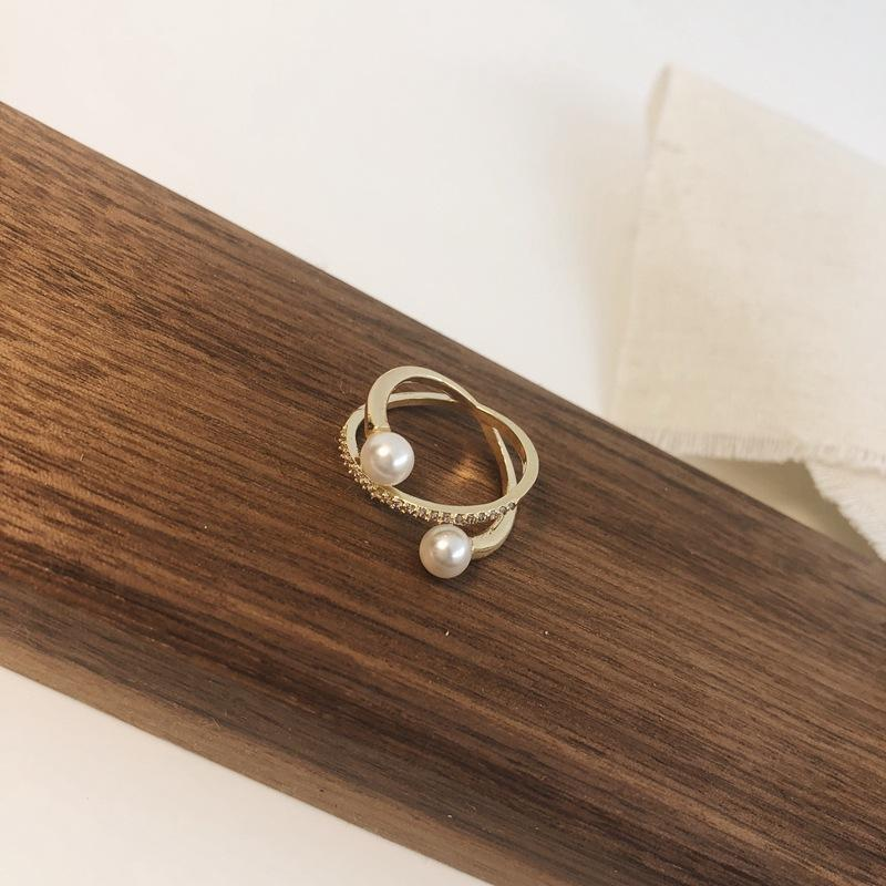 Pearls Wrapped Around Ring