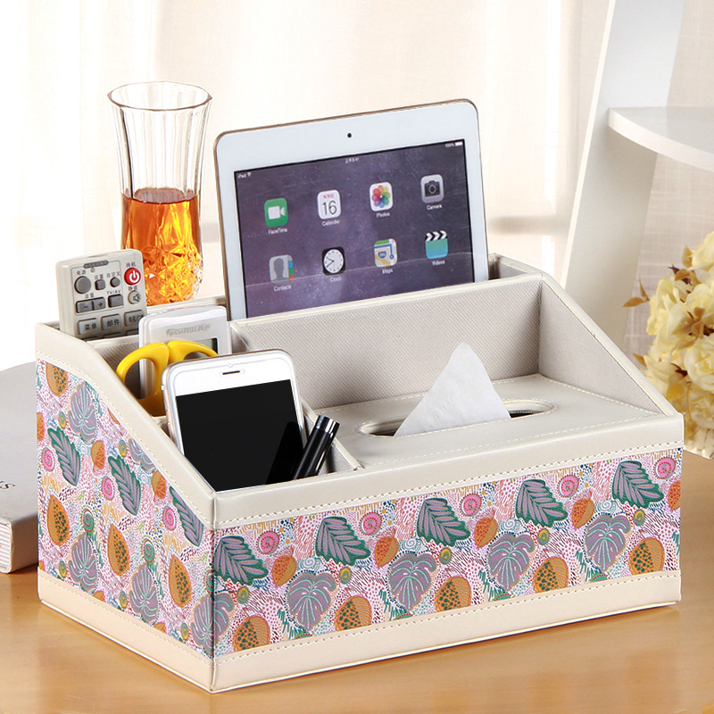 Multi-Functional Leather Storage Box for Bed Room