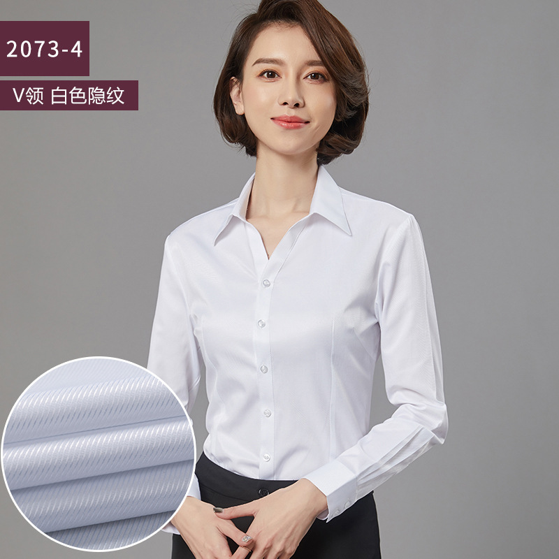 Smart Professional Looking Long-Sleeved Slim Shirt for Women's Important Interviews