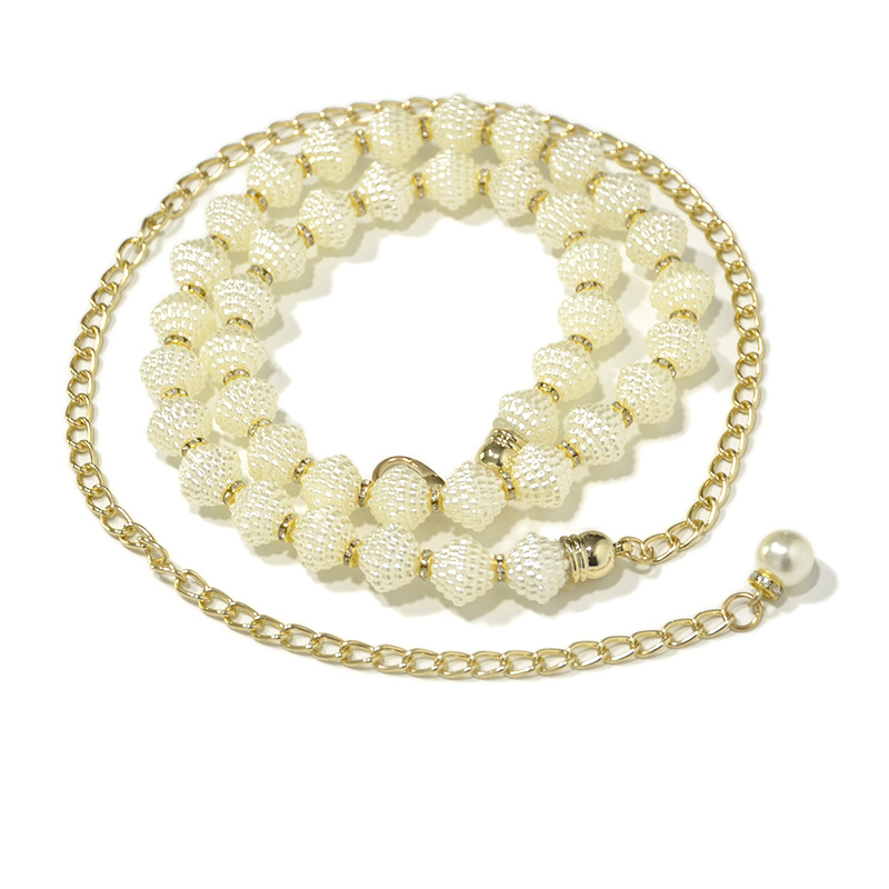 Elastic Pearl Waist Chain for Ladies