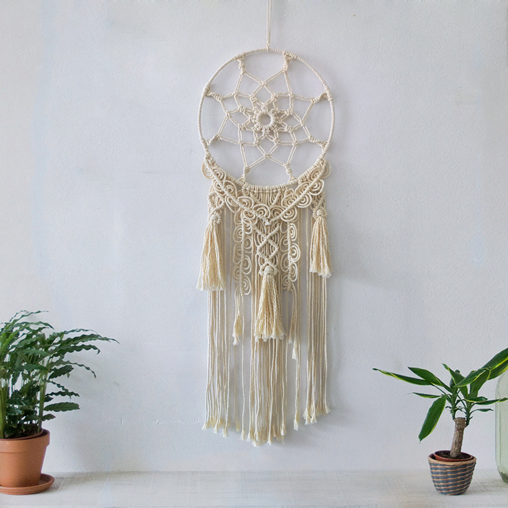 Nordic Hand-Woven Dreamcatcher with Tassels for Boho Chic Decor