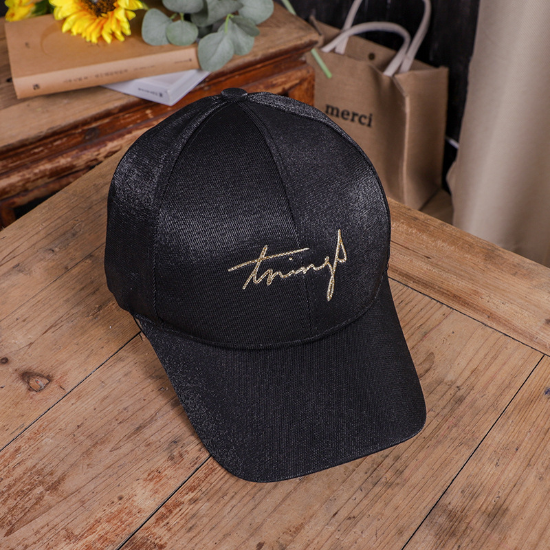 Shiny Baseball Cap for Women's Fashionable Accessories