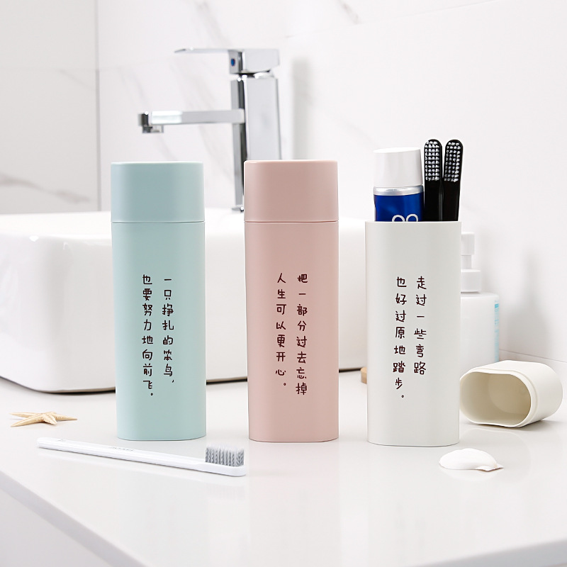 Aesthetic Portable Toothbrush Case For Easy Compartment During Travel