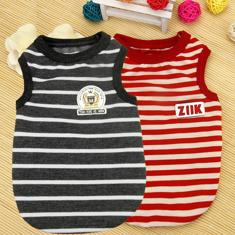 Breathable Striped Pet Shirt for Casual Wear