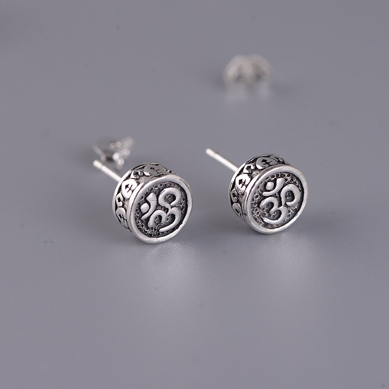 Tribal Antique Silver Earrings for Men and Women
