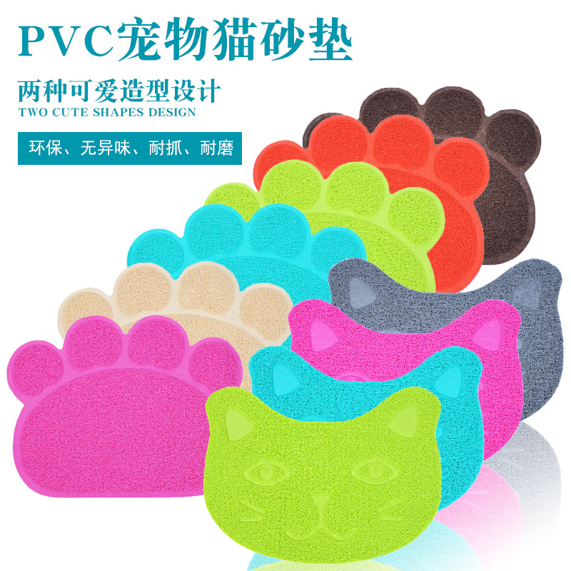 Solid-Colored Claw/Cat-Shaped Toilet Mat for Gifts to Cat Lovers