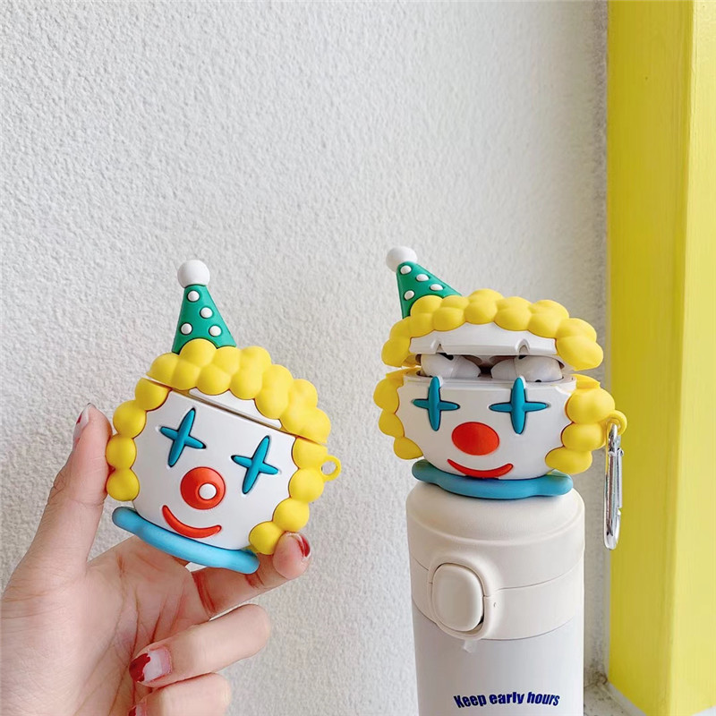 Blonde Clown Airpods Case for Unique Phone Accessory