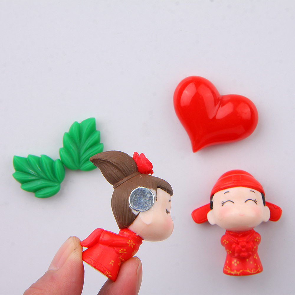 Cute Chinese Couple Magnet for Fridge