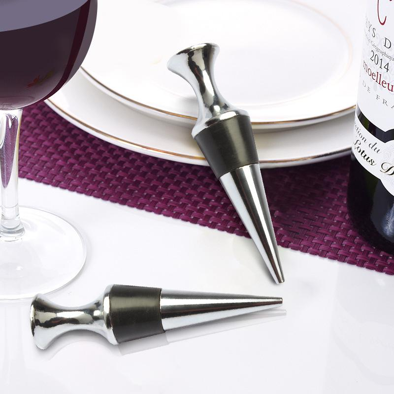 Metal and Cork Wine Stopper