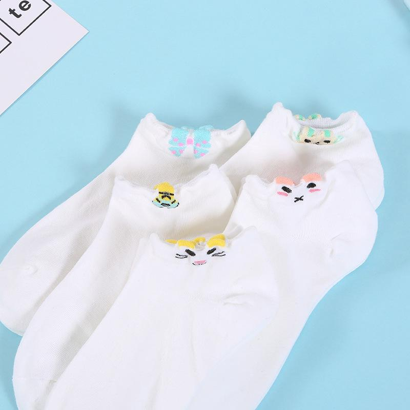 Simple Color Band Ankle Socks (10 Pairs/Set)