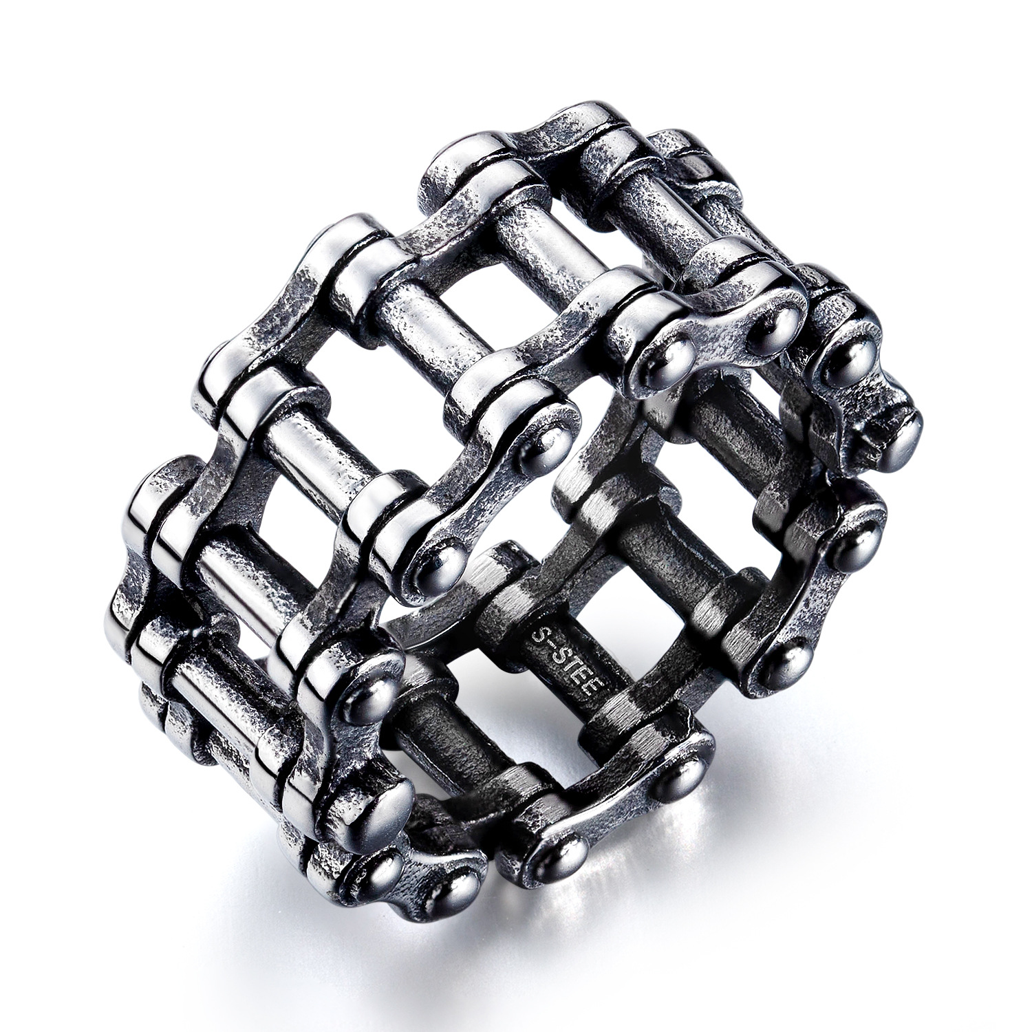 Unique Motorcycle Chain Inspired Ring for Gift Giving