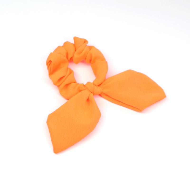 Bright Neon Bow Scrunchie for Night Parties