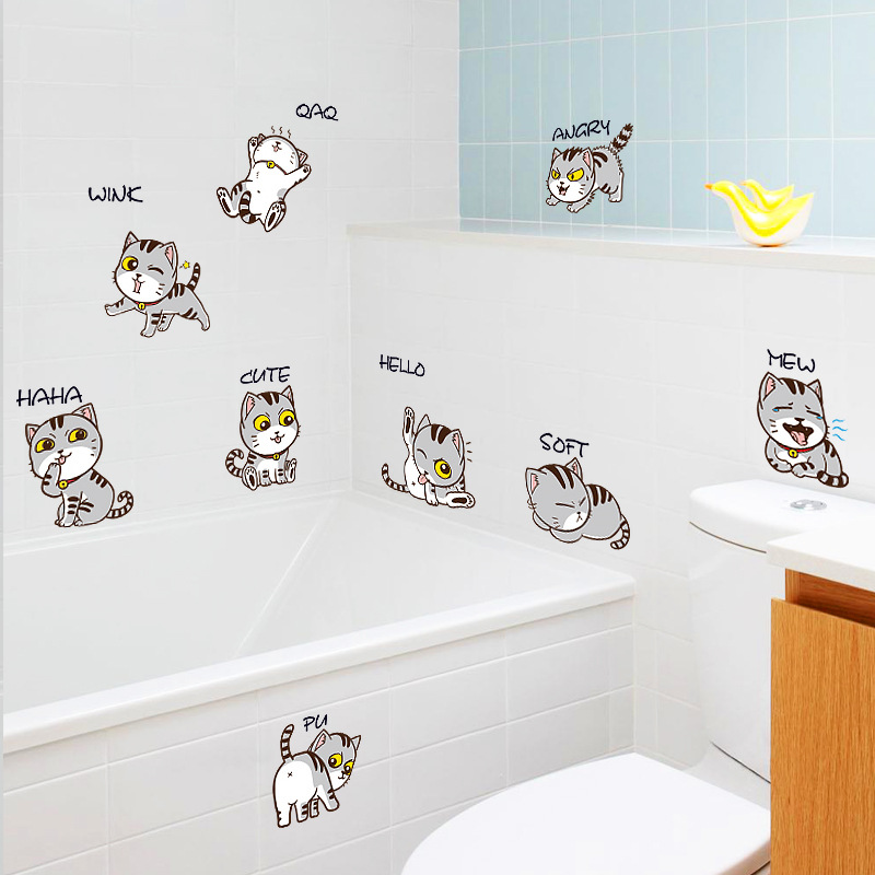 Cute and Charming Cat Sticker for Small Home Decorations