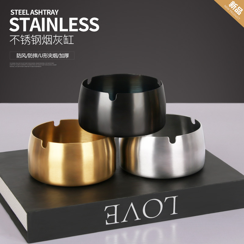 Eye-Catching Stainless Steel Ashtray for Smokers' Must-Have