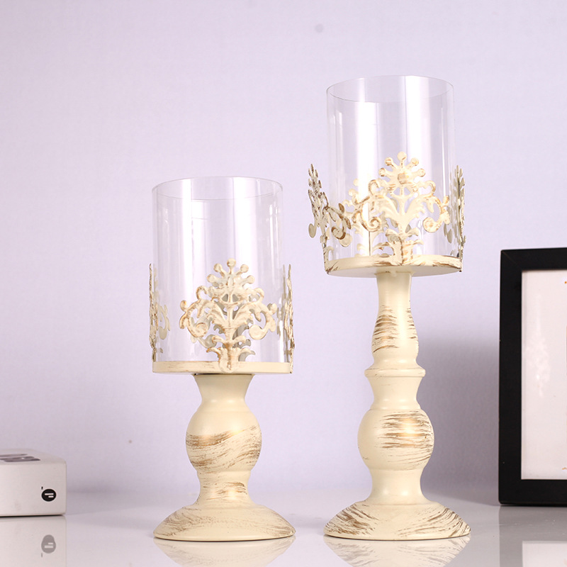 Gorgeous Metal Wrought Iron Candle Holder for Improving Elegance