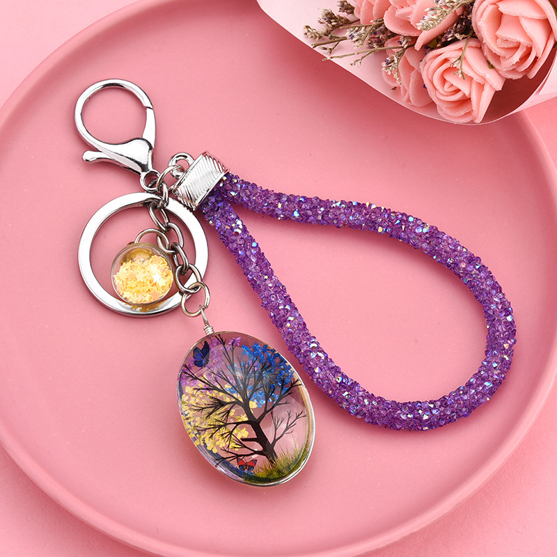 Colored Trees Wristlets for Holding Your Keys