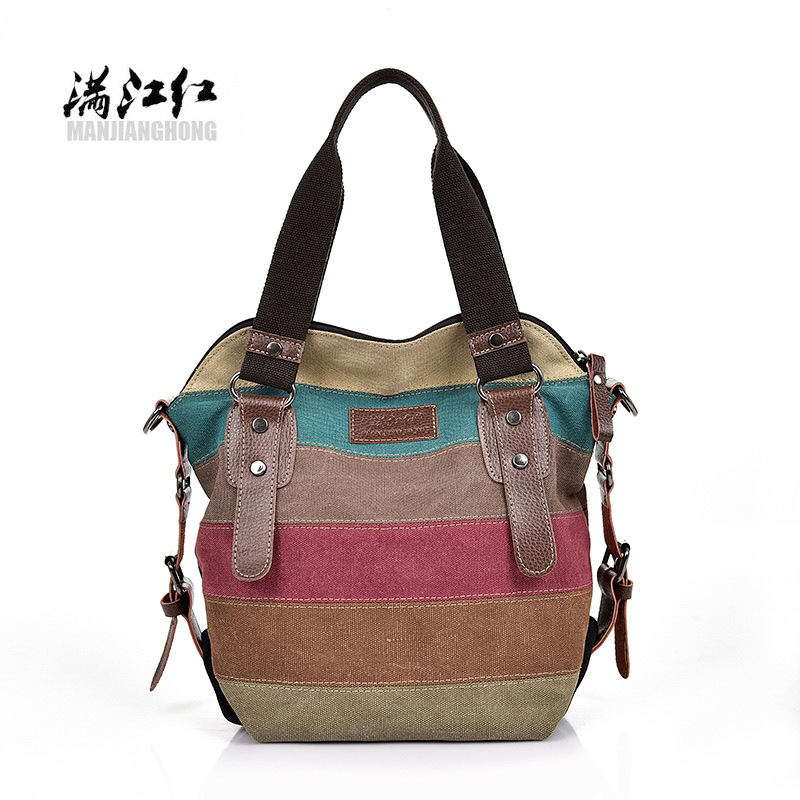 Retro Large Multi-Colored Bag for Travel