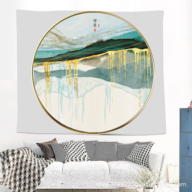 Abstract Mountain Tapestry for Nature Lover