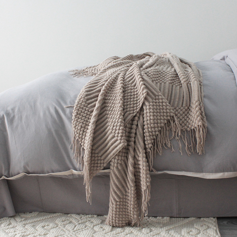 Balmy Knitted Small Blanket for Siesta Time