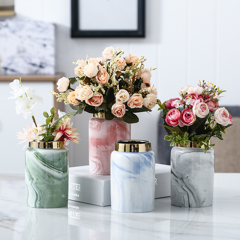 Marble-Like Classy Vase for Dried Flowers
