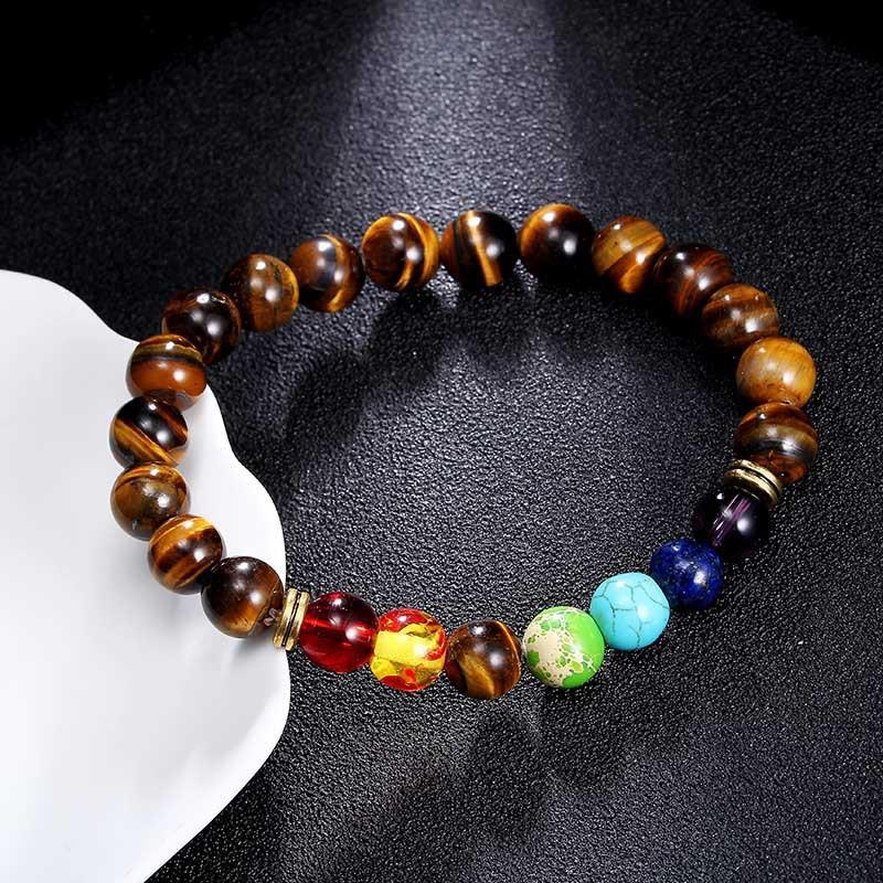 Seven Chakra Beads Mixed with Various Beads Bracelet