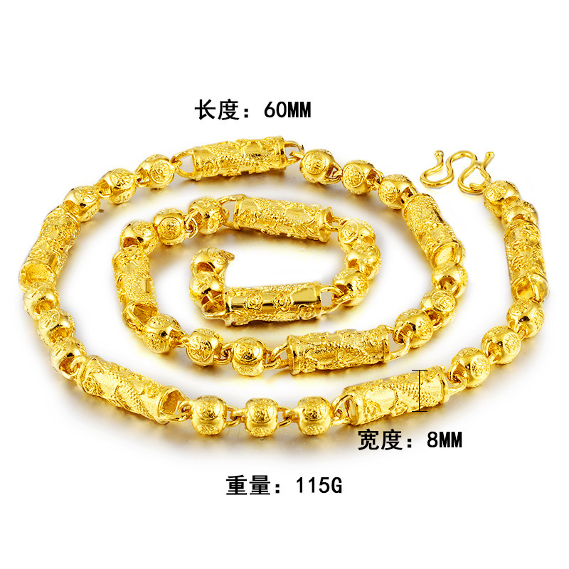 Enchanting Brass Gold-Plated Necklace for Classy Styles