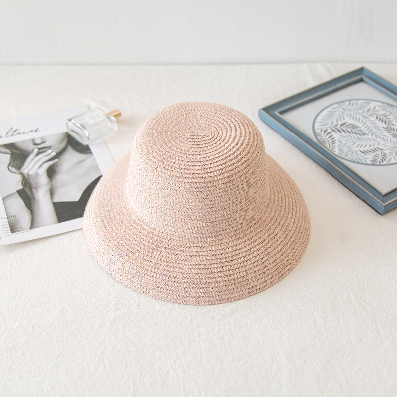 High-Quality Bucket Style Straw Hat for Beach Escapades