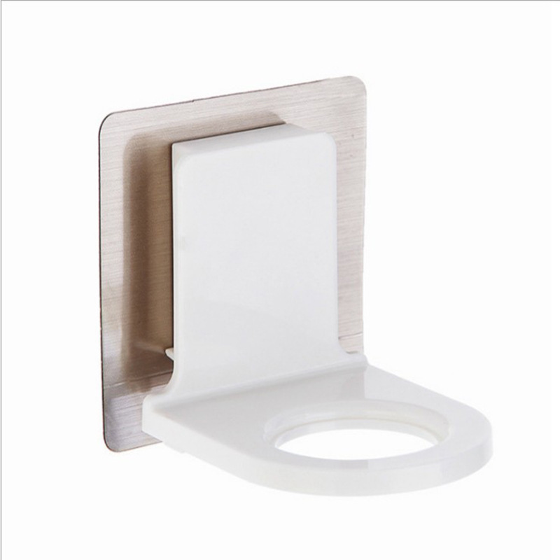 Wall-Mounted Self-Adhesive Bottle Holder for Hanging Bottled Toiletries
