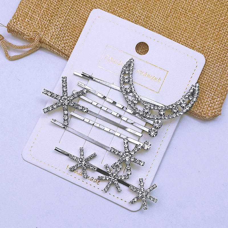 Appealing Faux Rhinestone and Alloy Hair Clips for Korean Style Fashion