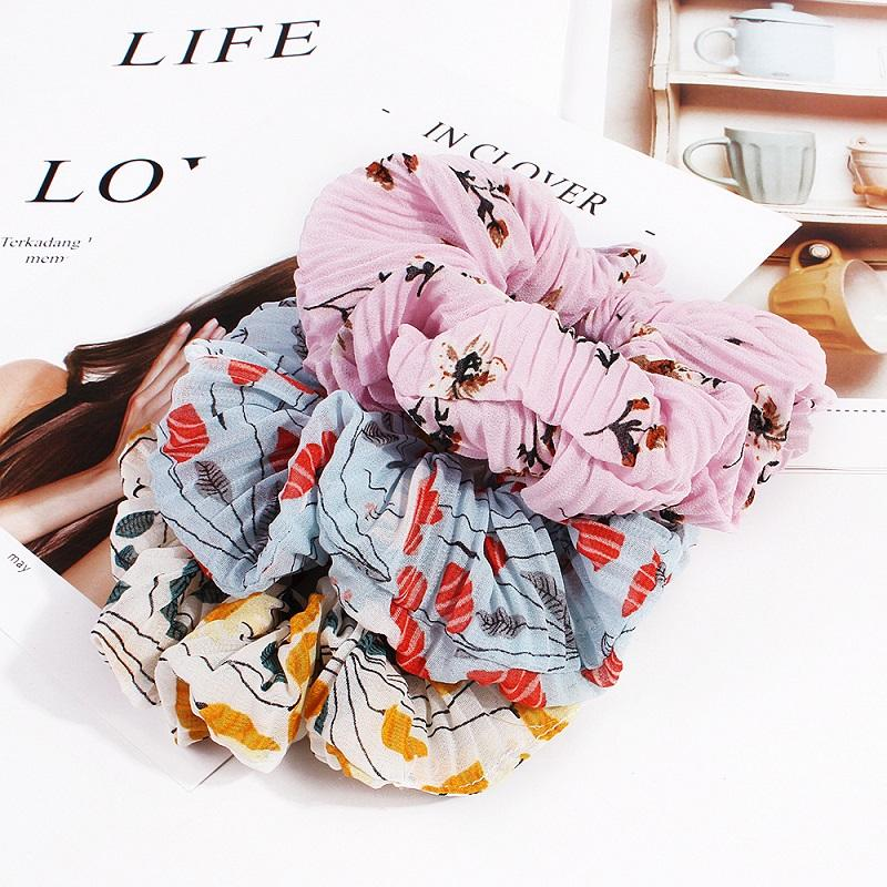 Comfy Floral Scrunchie for Everyday Use
