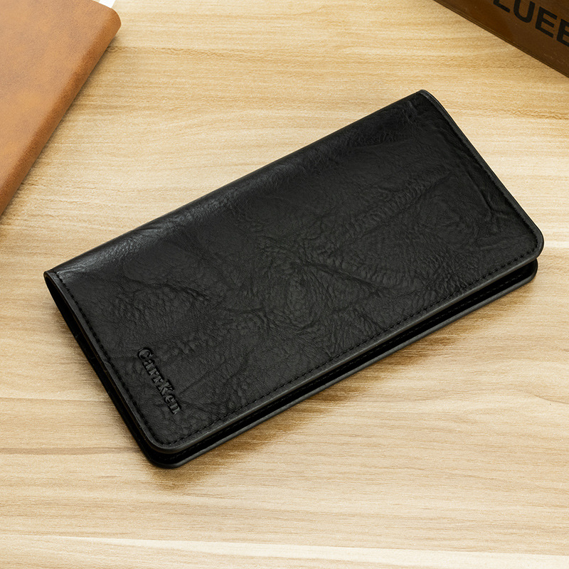 Classic Black Faux Leather Wallet