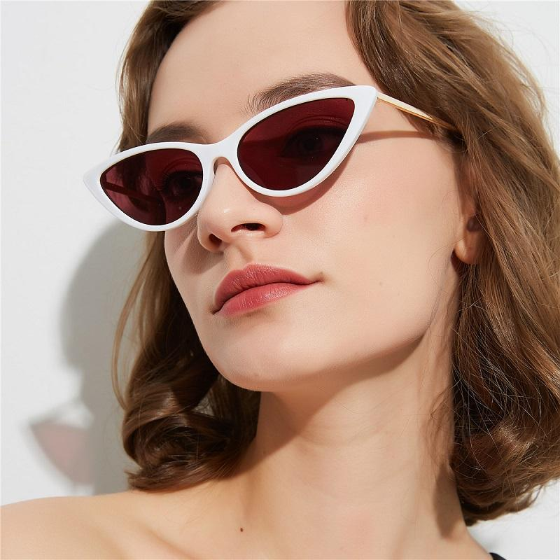 Metallic Temple Cat's Eye Sunglasses
