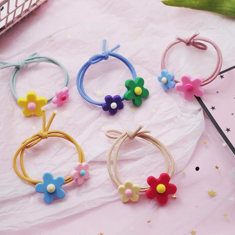 Big and Small Flower Double Hair Tie