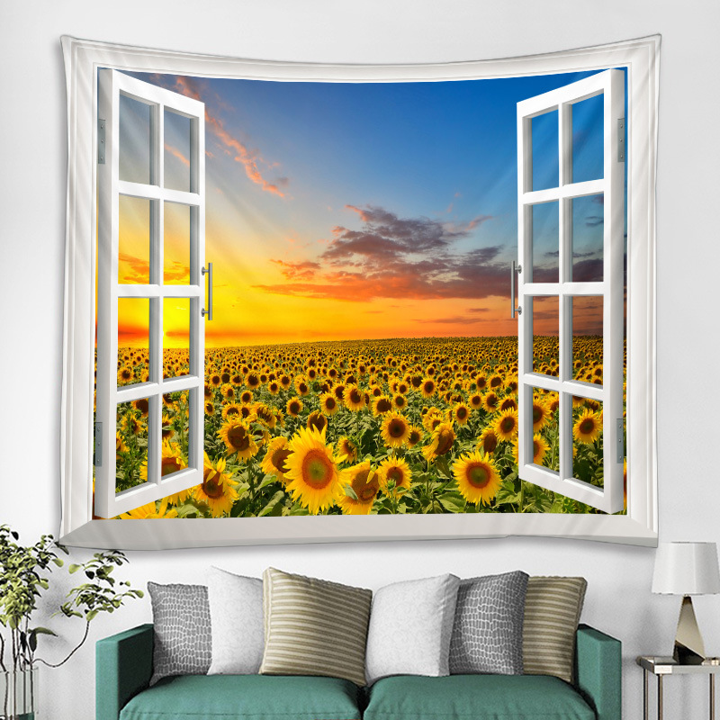 Digital Printed Tapestry with  Realistic View  for Bedroom
