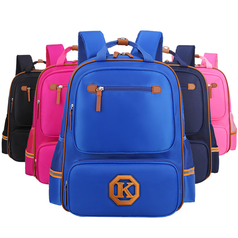 Solid Colored Large Backpack for Fitting All Your Children's School Supplies