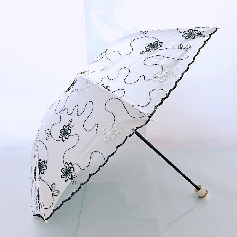 Floral Embroidery Umbrella for Protecting You from the Sun
