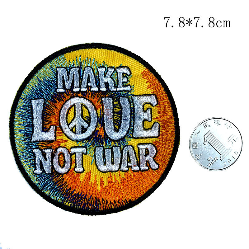 Round Exquisite Embroidered Patch for Shirts