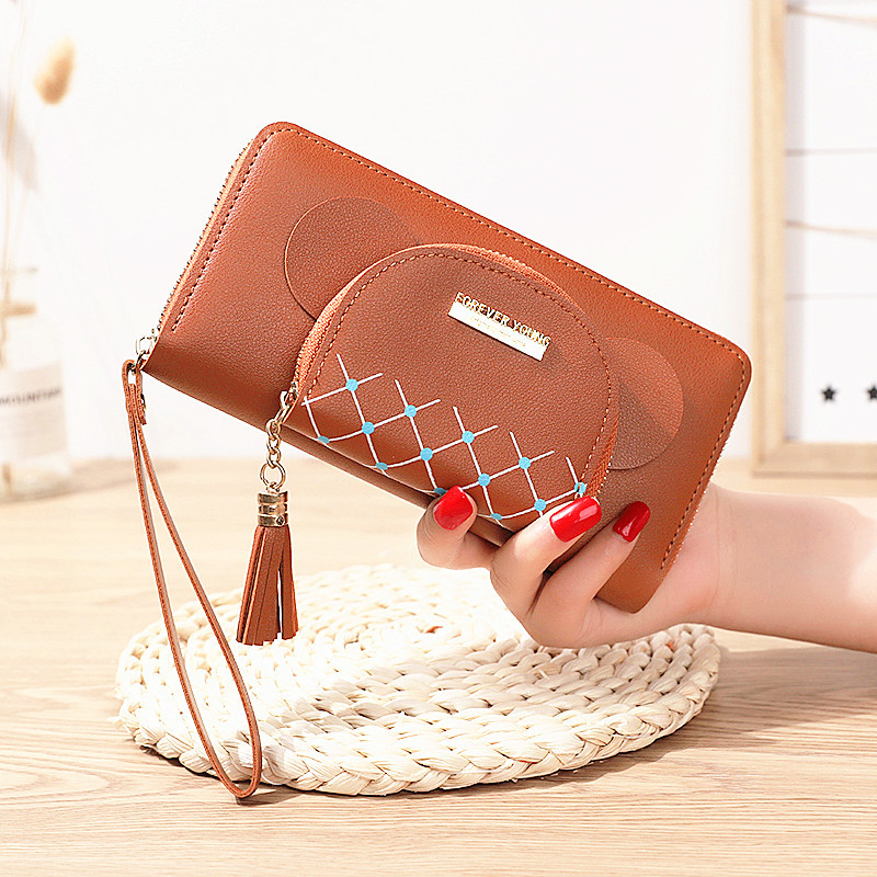 Chic Faux Leather Long Wallet for Women