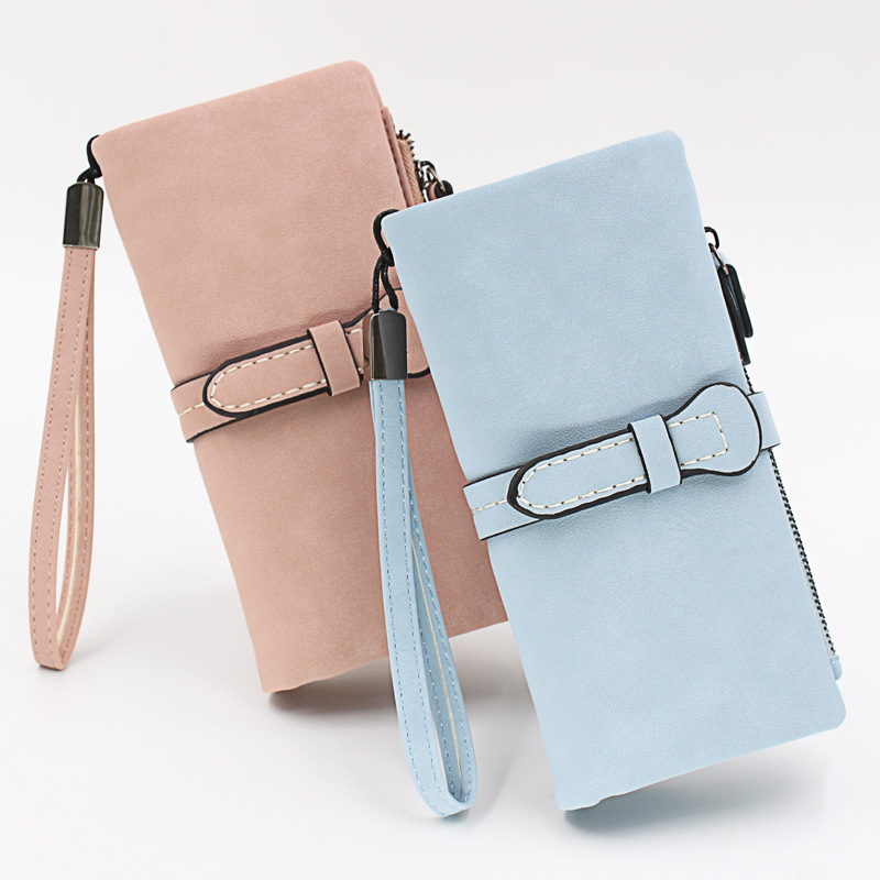Frosted Faux Leather Long Wallet for Fashionistas